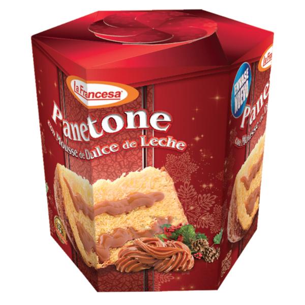 Paneton mousse dulce de leche