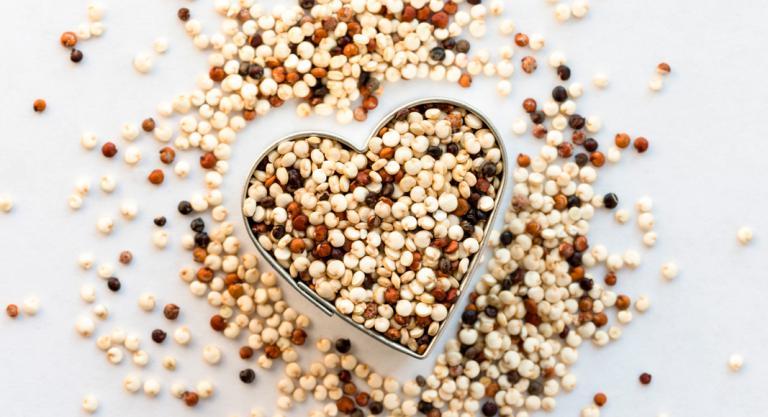 Quinoa en forma de corazón